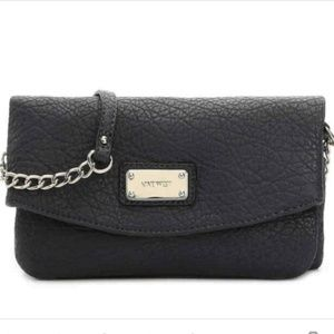 Nine West Tunnel Pebbled Leather Crossbody